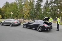 Dopravní akce na dálnici D6.