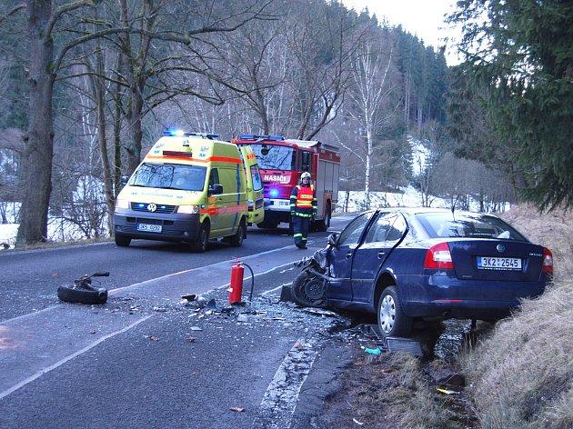 Vážná nehoda u Kraslic.