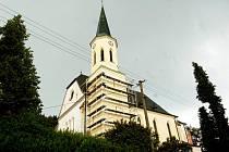 Kostel ve Stříbrné.
