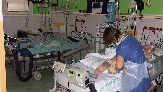 Jedno z oddělení sokolovské nemocnice
