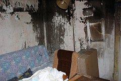 Domek Hany Džudžové po požáru.