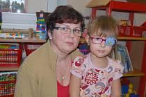 Stanislava Pilmanová se čtyřletou Viktorkou