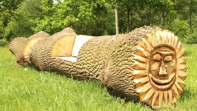 Z POKÁCENÝCH STROMŮ v Chodově jsou lavičky a lehátka se sluncem.