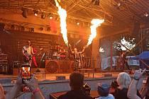 Revival Rammstein přivezl do Kraslic tvrdou muziku i ohnivou šou