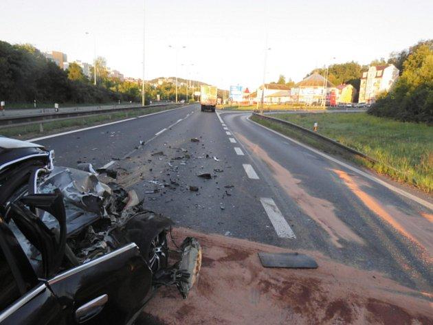 Tragická nehoda řidiče Audi.