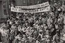 Prvomájové oslavy v roce 1963.