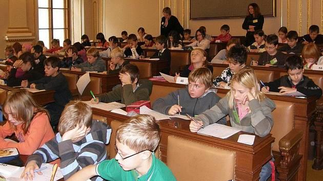 Celorepublikové finále soutěže se uskuteční 30. listopadu v Poslanecké sněmovně Parlamentu ČR.