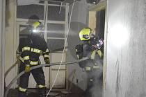 V Sokolově hořel opuštěný areál, bezdomovce tam nenašli.