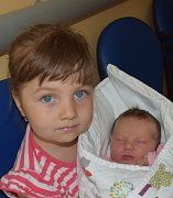 Aneta Němcová z Tábora. Na svět přišla jako druhá dcera v rodině 28. května ve 23.57 hodin. Její váha byla 3830 gramů, měřila 48 cm a sestřičce Natálce jsou necelé tři roky.