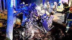 Vážná dopravní nehoda se stala v pondělí krátce po půlnoci u Sudoměřic u Bechyně v části obce Bežerovice.