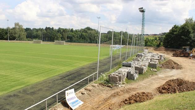 Přestavba stadionu v Kvapilově ulici.