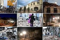 Následky zemětřesení v Chorvatské republice.