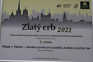 Web Tábora pro turistiku získal v celostátním kole soutěže Zlatý erb třetí místo.