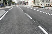 Stavební úpravy Budějovické ulice v úseku od křižovatky s Havlíčkovou až po polikliniku jsou hotové.