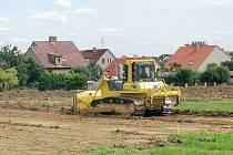 Stavba propojky mezi Měšicemi a Vožickou ulicí v Táboře.