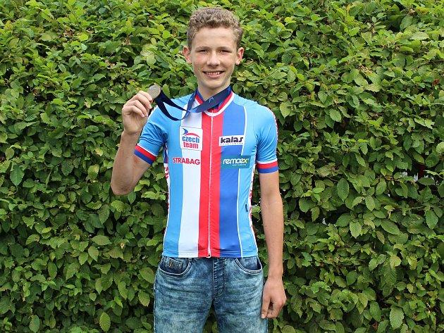 Matyáš Fiala byl třetí na ME MTB 2017vkategorii U15