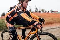 Mladí závodníci G.Benedikt Švec cykloteam zářili v TBC sérii horských kol. Na snímku je Viola Lišková.