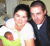 VOJTĚCH PAVLÍK Z TÁBORA. Bráška tříleté Terezky se narodil 14. října v 7.05 hodin.  Jeho váha byla 2800 g a měřil 48 cm.
