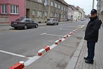 Cyklostezka v Jeronýmově ulici v Táboře.