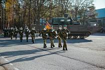 Hlavním hostem slavnostního nástupu ve středu 11. prosince byl zástupce velitele pozemních sil brigádní generál Ladislav Jung.