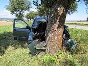 Náraz do stromu nepřežila spolujezdkyně.