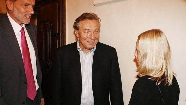 Setkání s Karlem Gottem na večeři 2010.