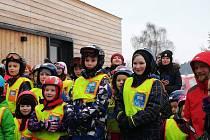 Děti z želečské základní školy lyžovaly na Monínci.