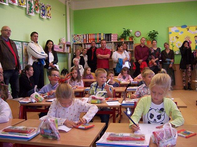První školní den vZŠ Mladá Vožice.