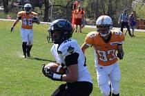 Tábor Foxes - Teplice Nordians ve IV. lize amerického fotbalu 7:12.