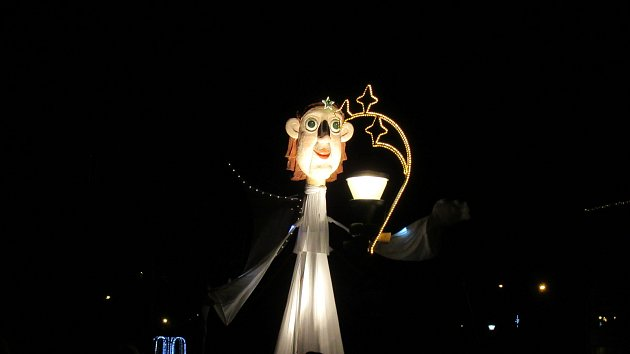 Rozsvícení vánočního stromu v Sezimově Ústí