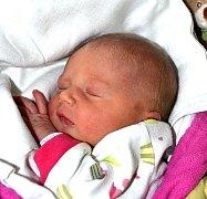 EMA PRŮCHOVÁ ZE ZLUKOVA. Na svět poprvé pohlédla  3. listopadu v 8.18 hodin. Po narození byla její váha 2620 g a míra 48 cm.