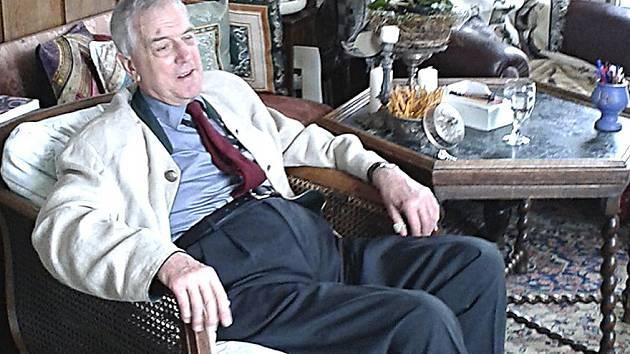 Alfons Paar z října 2015, kdy navštívil Bechyni.