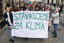 Protest studentů proti klimatickým změnám.