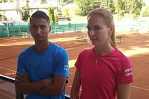 Barbora Božková a její přítel, guatemalský reprezentant Diaz Figueroa Christopher, byli v duelu Tábora a Českých Budějovic rozdílovými hráči. I díky nim tým z krajského města jasně vyhrál.