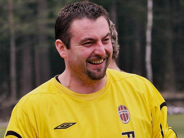 Brankář FK Tábor Martin Blažek už u fotbalu dlouho neměl důvod ke smíchu...