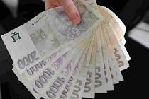 Ilustrační foto bankovky.