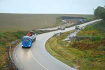 Dnes začala uzavírka silnice I/3 u Sudoměřic u Tábora za čerpací stanicí RoBIN OIL