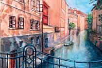 Malířka Eva Wernerová Málková se inspiruje zákoutími měst a vesniček.