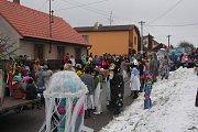 Masopustní průvod prošel v sobotu Myslkovicemi už pojedenapadesáté.