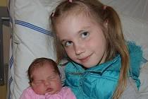 Klára Trachtová z Plané nad Lužnicí. Narodila se 8. dubna v 19.27 hodin. Vážila 3330 gramů, měřila 49 cm a má sestřičku Barunku (6).