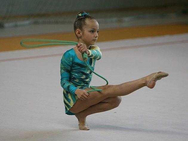 Moderní gymnastka GSK Tábor Vendula Bettáková si z oblastního přeboru v Humpolci přivezla 5. místo a účast na mistrovství ČR.