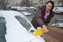 První sníh roku 2015.