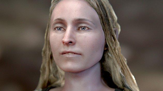 Dívka ze 17. století dostala modré oči a blond vlasy