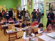 První školní den v ZŠ Mladá Vožice.