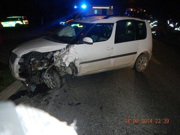 Dopravní nehoda 4.9.2014Aleše Lachouta.