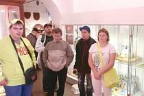 Muzeum čokolády a marcipánu v Táboře se výletníkům ze stacionáře v Záluží líbilo.