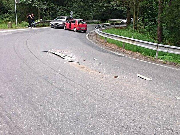 Dopravní nehoda v Táboře.
