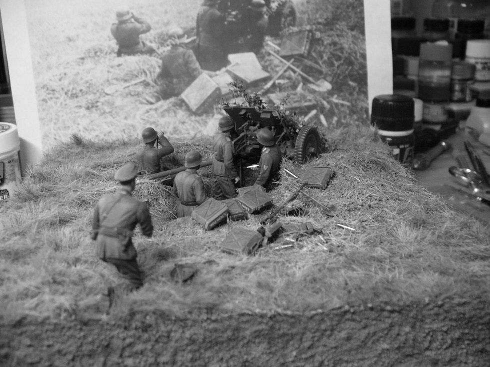 Počáteční fáze operace Barbarossa – německý protitankový kanon s obsluhou (i s předlohou)