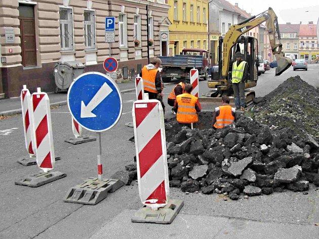 Oprava v táborské Havlíčkově ulici.