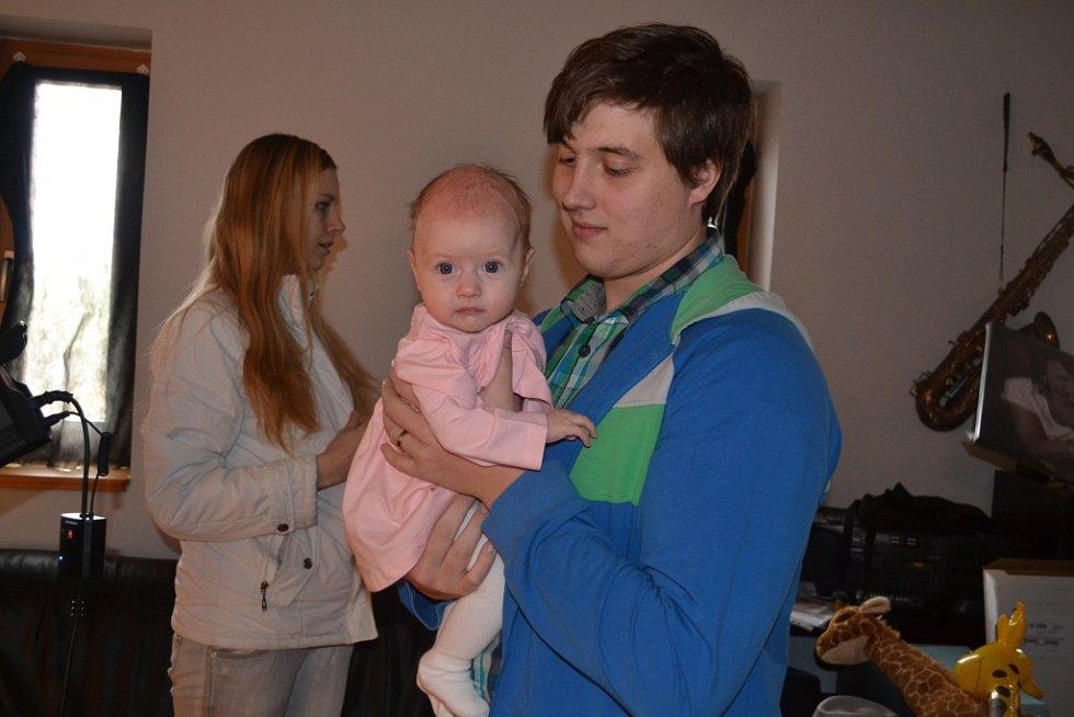 Viktorie Aulíková s tatínkem.